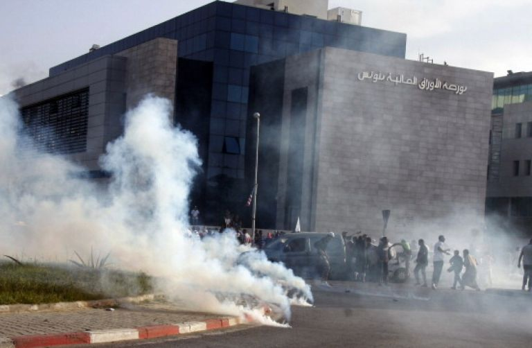 Tunisian Protesters Set American School on Fire