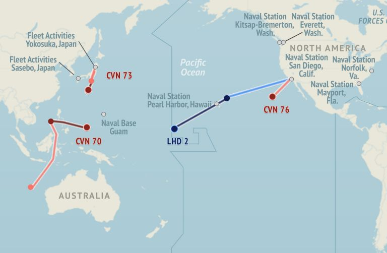 U S  Naval Update Map: May 21, 2015
