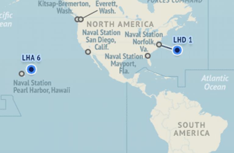 Naval Station San Diego Map.U S Naval Update Map June 30 2016