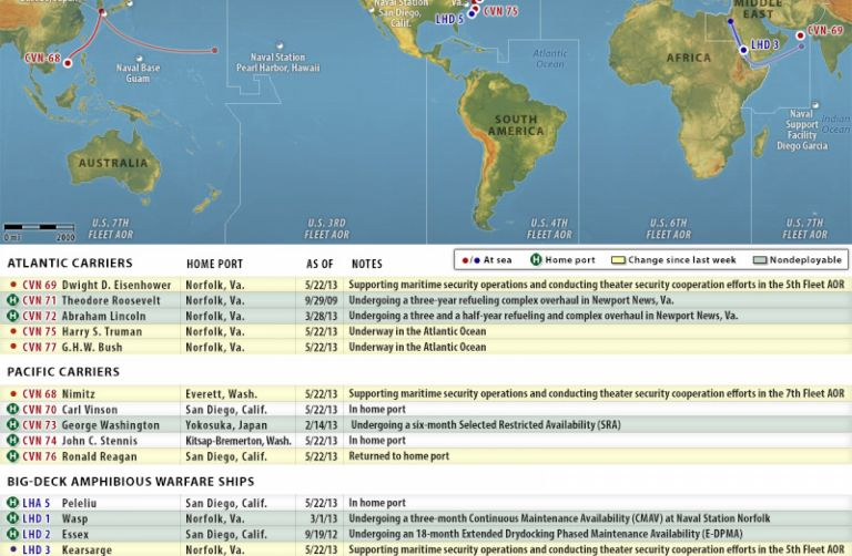 U.S. Naval Update Map: May 23, 2013