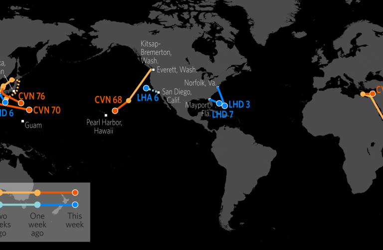US Naval Update Map June - Us aircraft carriers deployment map