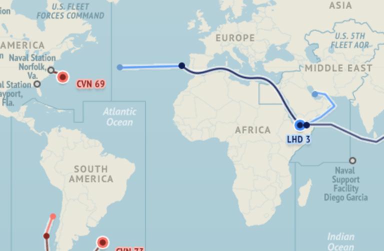 U.S. Naval Update Map: Nov. 5, 2015