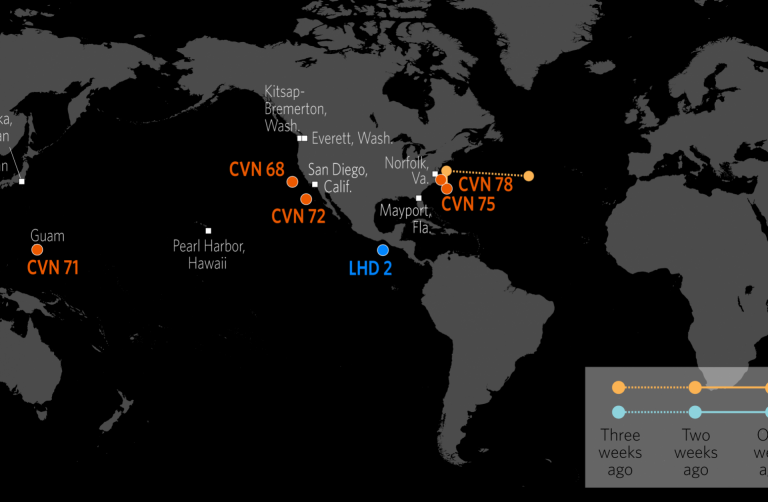 U.S. Naval Update Map: May 21, 2020