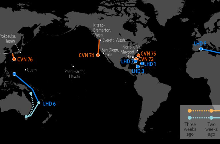 U S  Naval Update Map: Sept  14, 2017