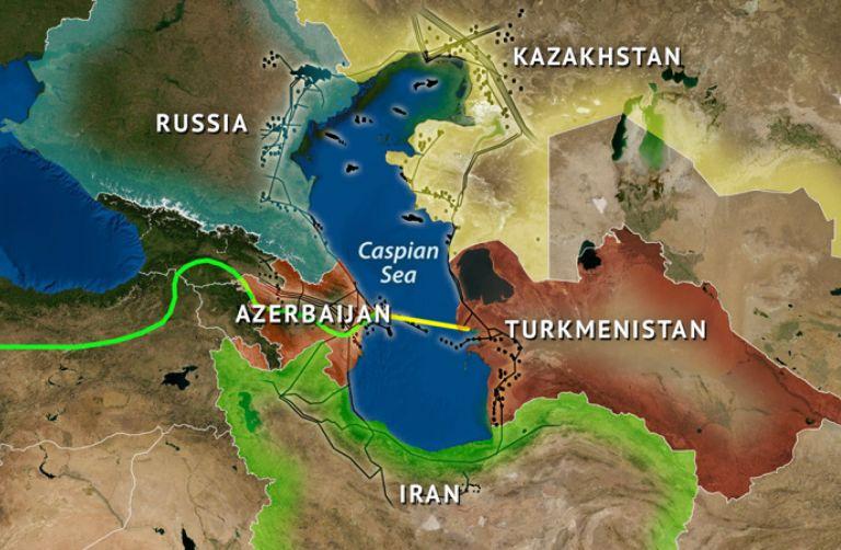 The Strategic Importance Of The Caspian Sea - Caspian sea world map