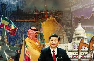 A collage of images depicts the key geopolitical actors affecting events in 2019