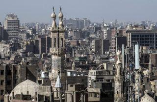 The minaret of al-Azhar Mosque in October 2018 in Cairo.