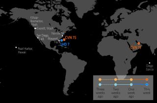 U.S. Naval Update Map: Feb. 22, 2018