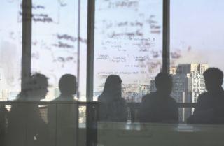 Strategic planning meeting photograph