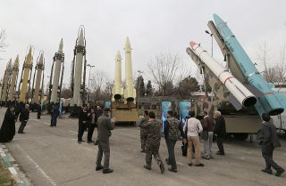 Iran holds its annual Dahe-ye Fajr celebrations in support of the 40th anniversary of the 1979 Islamic Revolution. The 10-day event is a patriotic spectacle that often includes military parades, new missile unveilings and launch tests.