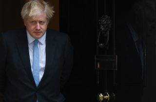 British Prime Minister Boris Johnson outside 10 Downing Street in London on Sept. 5, 2019.
