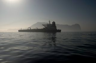 This photo shows the Iranian supertanker Adrian Darya.