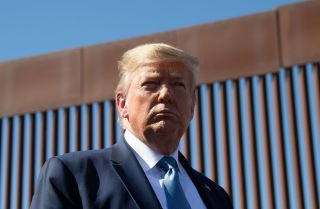 U.S. President Donald Trump visits the U.S.-Mexico border fence in Otay Mesa, California, on Sept. 18, 2019.