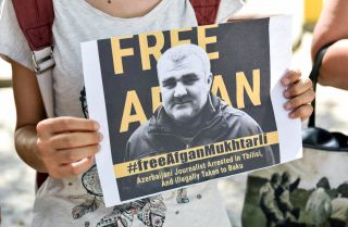 Afgan Mukhtarli, an Azerbaijani activist and journalist living in Georgia, has been detained in Azerbaijan since May under mysterious circumstances.