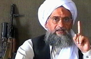 A TV grab from the Qatar-based Al Jazeera dated June 17, 2005, shows al Qaeda leader Ayman al-Zawahiri delivering a speech at an undisclosed location.