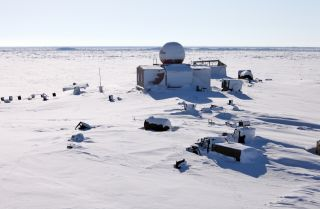 An abandoned polar station.