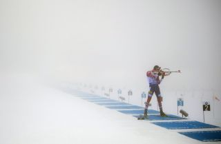 A Norwegian athlete competes in the Biathlon World Cup, a precursor to this year's Pyeongchang Olympics.