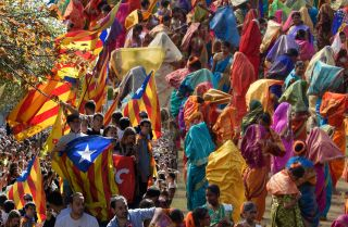 Given India's diversity and its history of insurgencies, it's not hard to imagine that the country could wind up facing the same sort of secessionist crisis that Spain is currently dealing with.