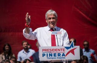 Chilean presidential candidate Sebastian Pinera