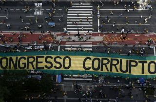 A Brazilian anti-corruption protest in Sao Paulo on Dec. 4, 2016.