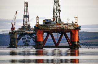 Oil rigs in the Cromarty Firth near Invergordon, Scotland, on Jan. 12, 2018.