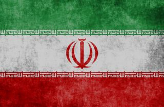 A photo illustration of the Iranian flag.