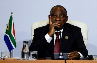 South African President Cyril Ramaphosa attends the 10th BRICS summit on July 26 in Johannesburg.