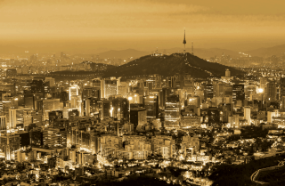 As dusk falls over Seoul, South Korea's bustling capital, the city's skyline comes to life.