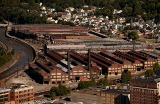 A snapshot of industrial decay is seen in this picture of Johnstown, Pennsylvania, from Oct. 6, 2016.