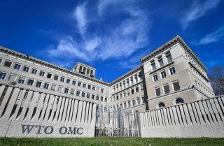 The World Trade Organization (WTO) headquarters are seen in Geneva on April 12, 2018.