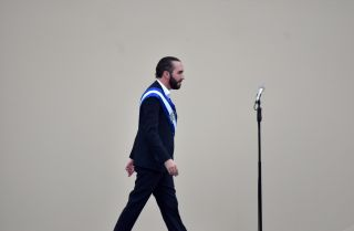 Salvadoran President Nayib Bukele is seen during his inauguration ceremony in San Salvador, El Salvador, on June 1, 2019.