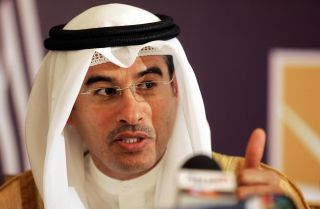 The chairman of Dubai's Holding and Emirates real estate company Emaar, Mohamed Ali Alabbar, speaks during a press conference in Riyadh.