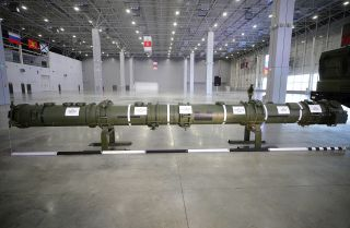 This photo shows a Russian 9M729 missile
