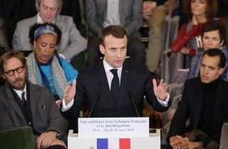 French President Emmanuel Macron is proposing to promote French around the world.