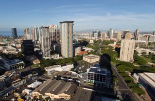 Honolulu, the capital of Hawaii, looked peaceful on the morning on Jan. 13, 2018, despite the emergency alert that many residents of the state received on their cellphones warning of an incoming missile.