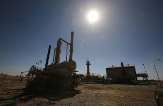 An October 2017 image from an Iraqi oil field west of Kirkuk.