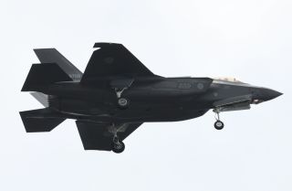 An Oct. 14, 2018, photo shows an F-35A fighter aircraft of the Japan Air Self-Defense Force taking part in a military review at Asaka training ground in Asaka, Saitama prefecture, Japan.