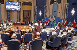Gulf Cooperation Council leaders meet in Kuwait City on Dec. 5, 2017.