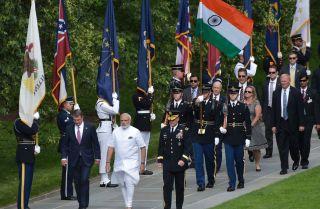 Indian Prime Minister Narendra Modi and U.S. Defense Secretary Ashton Carter
