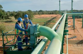Sasol's natural gas pipeline in Mozambique.