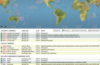 U.S. Naval Update Map: July 18, 2013