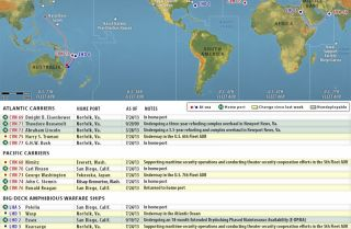 U.S. Naval Update Map: July 25, 2013