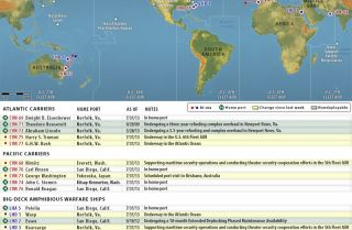 U.S. Naval Update Map: Aug. 1, 2013