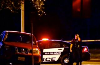Police respond to a shooting at an anti-Islam art show in Garland, Texas.