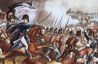 The Duke of Wellington orders the line to advance at the Battle of Waterloo on June 18, 1815.