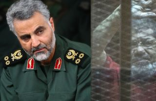 The commander of the IRGC's elite Quds Force, Qassem Soleimani (L), and ousted Egyptian President and Muslim Brotherhood member Mohammed Morsi. The United States is considering placing both organizations on its list of foreign terrorist organizations.