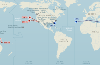 U.S. Naval Update Map: July 9, 2015