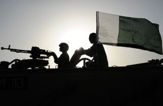 Pakistani soldiers deploy in Karachi, Pakistan. The army has always been important in Pakistani politics, but civilian leaders are gaining political power of their own to reinforce their burgeoning democratic ideals. The military's role in governance will have to change if it wishes to remain relevant.