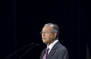 Malaysian Prime Minister Mahathir Mohamad delivers a speech during a conference in Tokyo on May 30, 2019.
