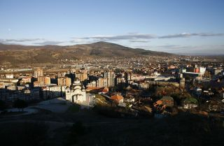 A view of the town of Mitrovica